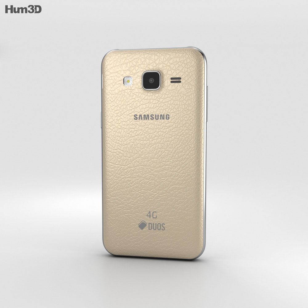 Samsung Galaxy J2 Gold 3d model