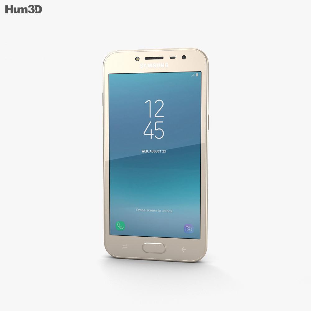 Samsung Galaxy J2 Pro Gold 3d model