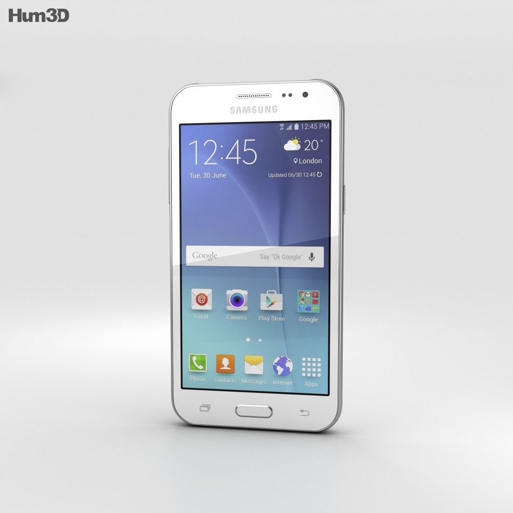 Samsung Galaxy J2 White 3d model