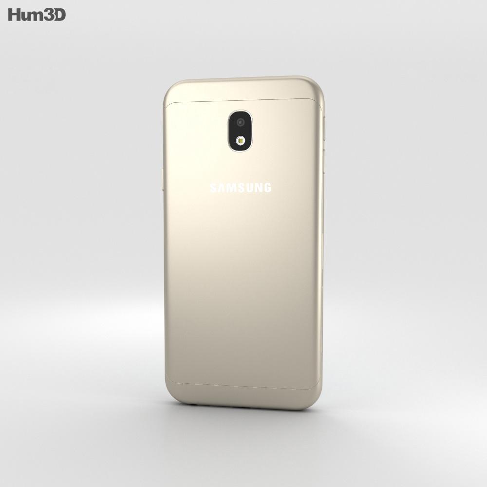 Samsung Galaxy J3 (2017) Gold 3d model