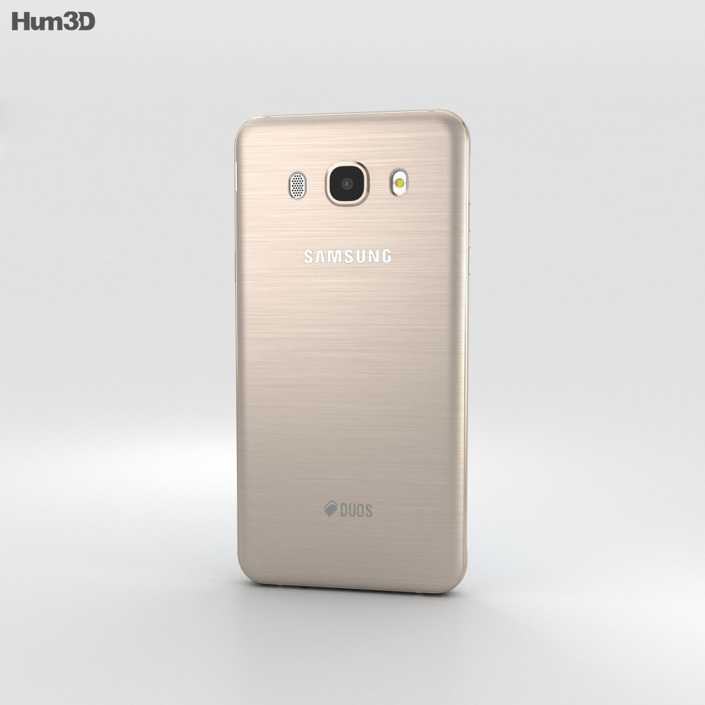 Samsung Galaxy J5 (2016) Gold 3d model