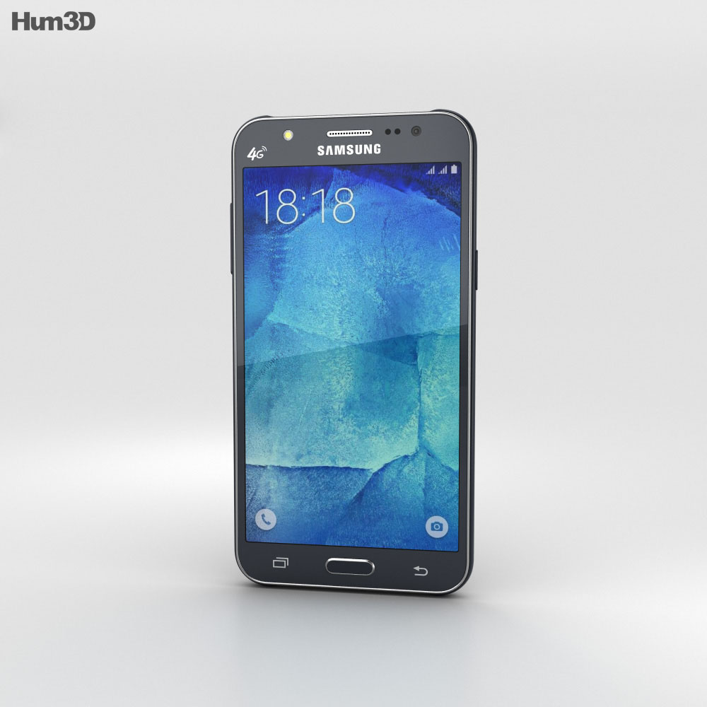 Samsung Galaxy J5 Black 3d model