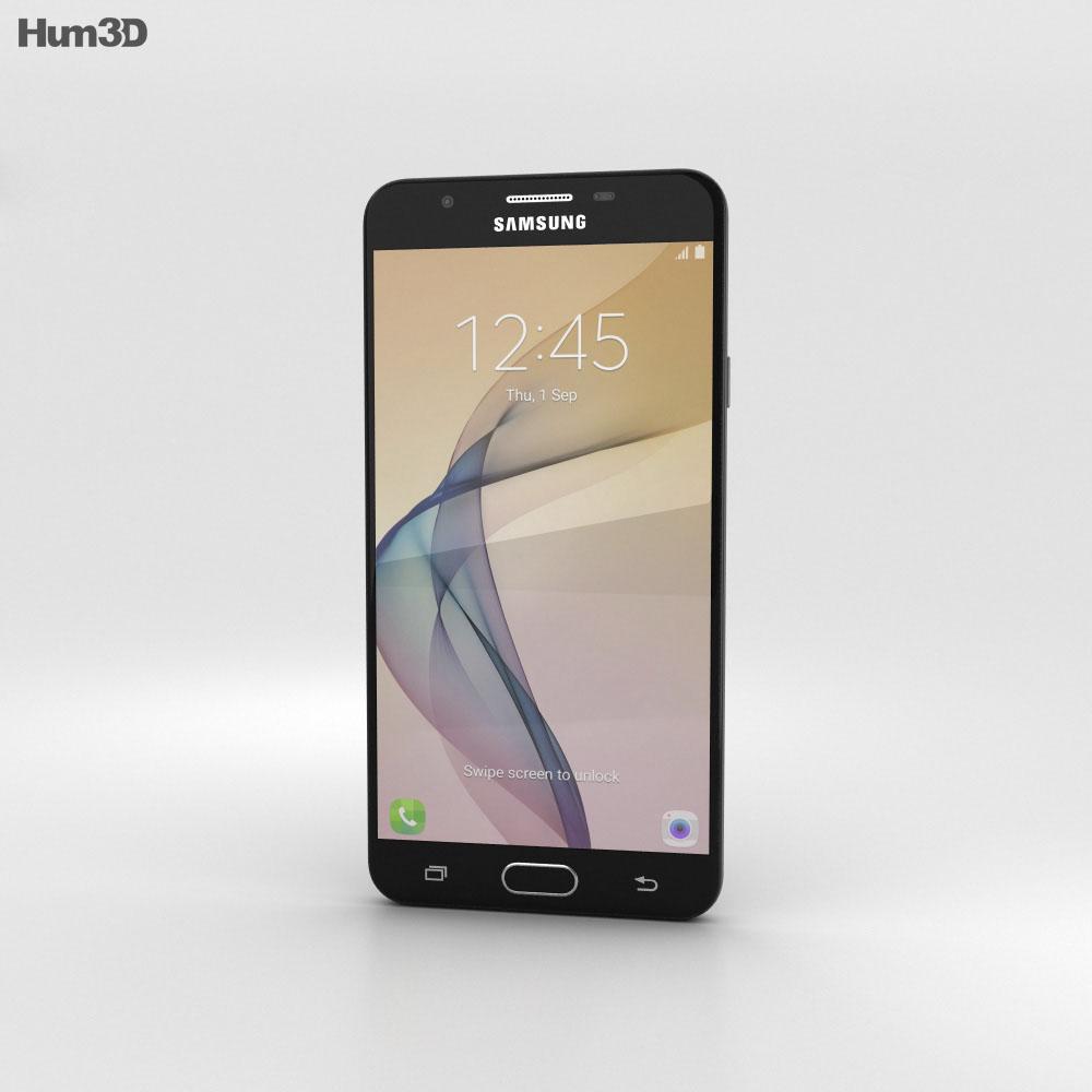 Samsung Galaxy J7 Prime Black 3d model