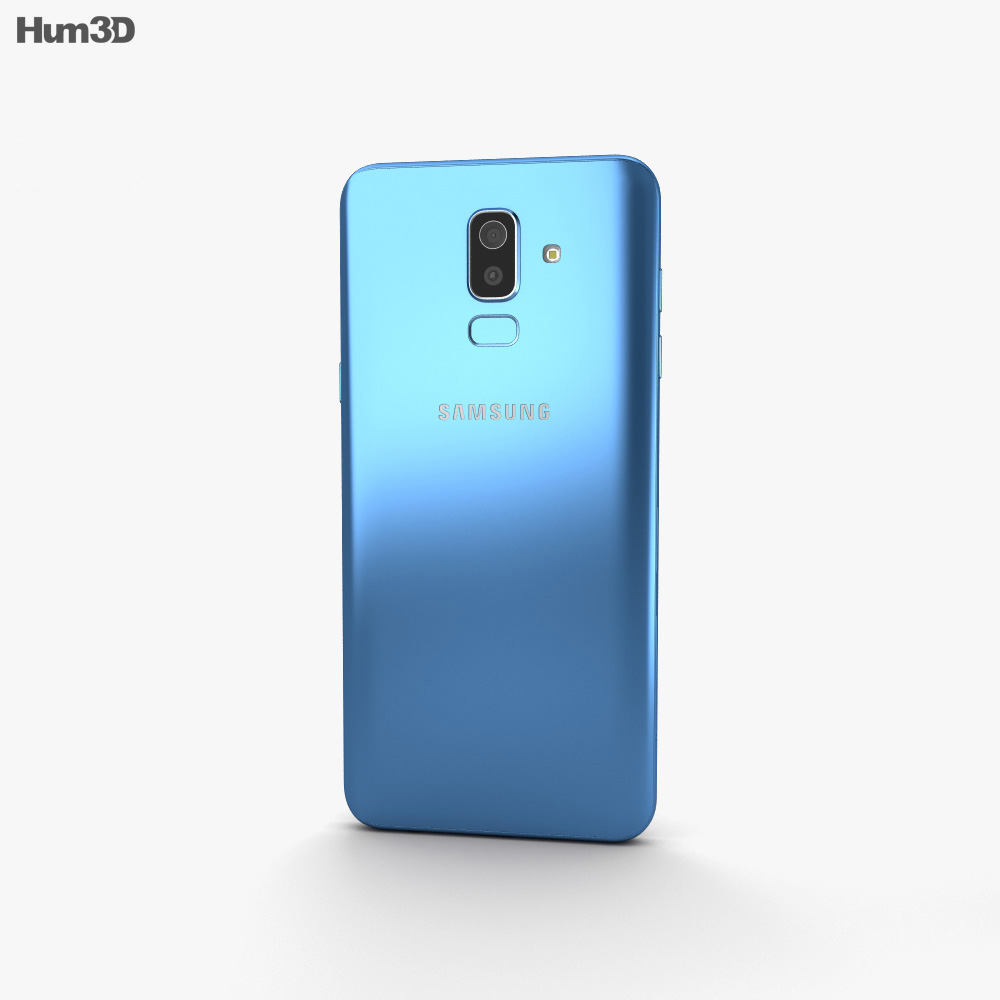 Samsung Galaxy J8 Blue 3d model