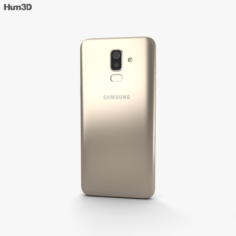 Samsung Galaxy J8 Gold 3d model