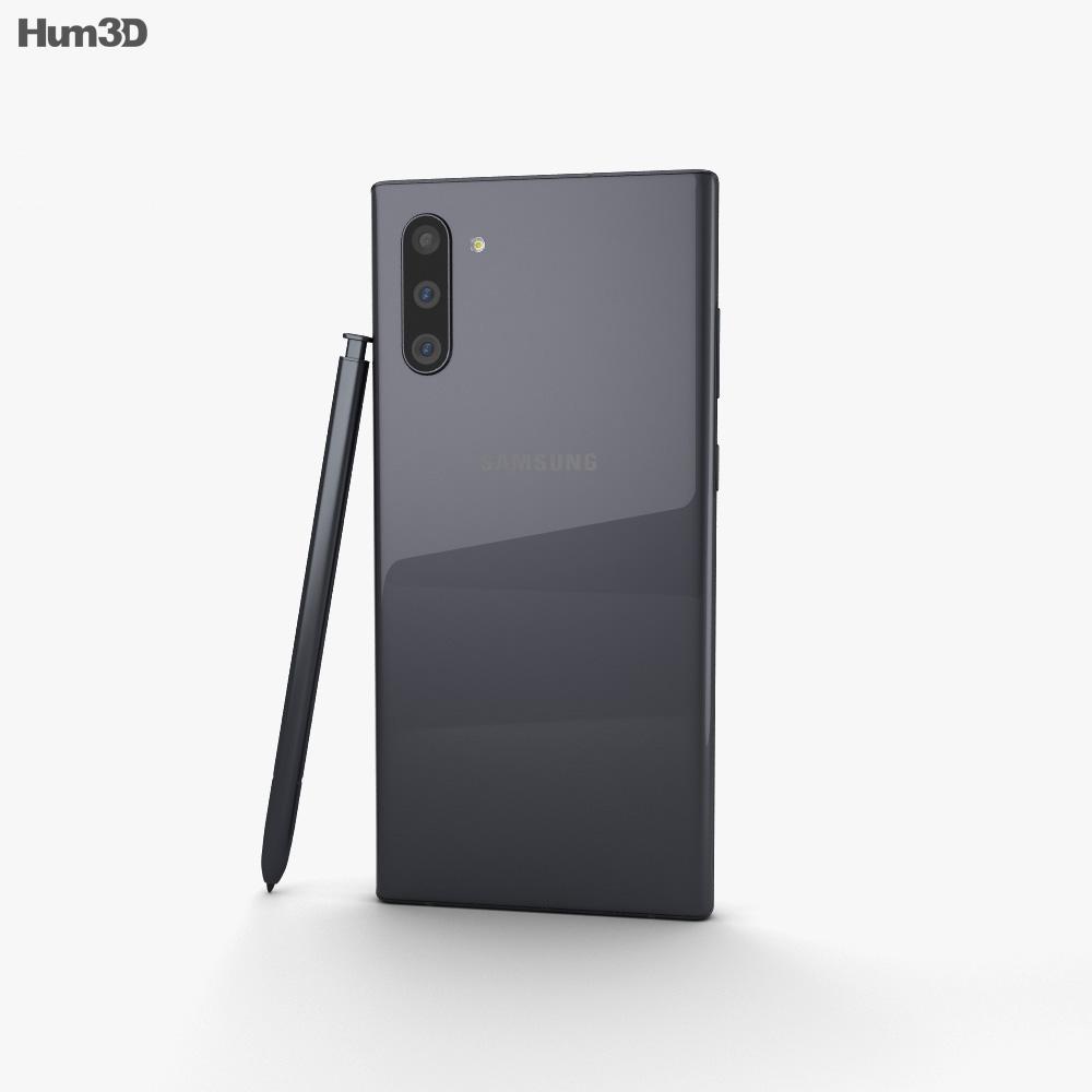 Samsung Galaxy Note 10 Aura Black 3d model