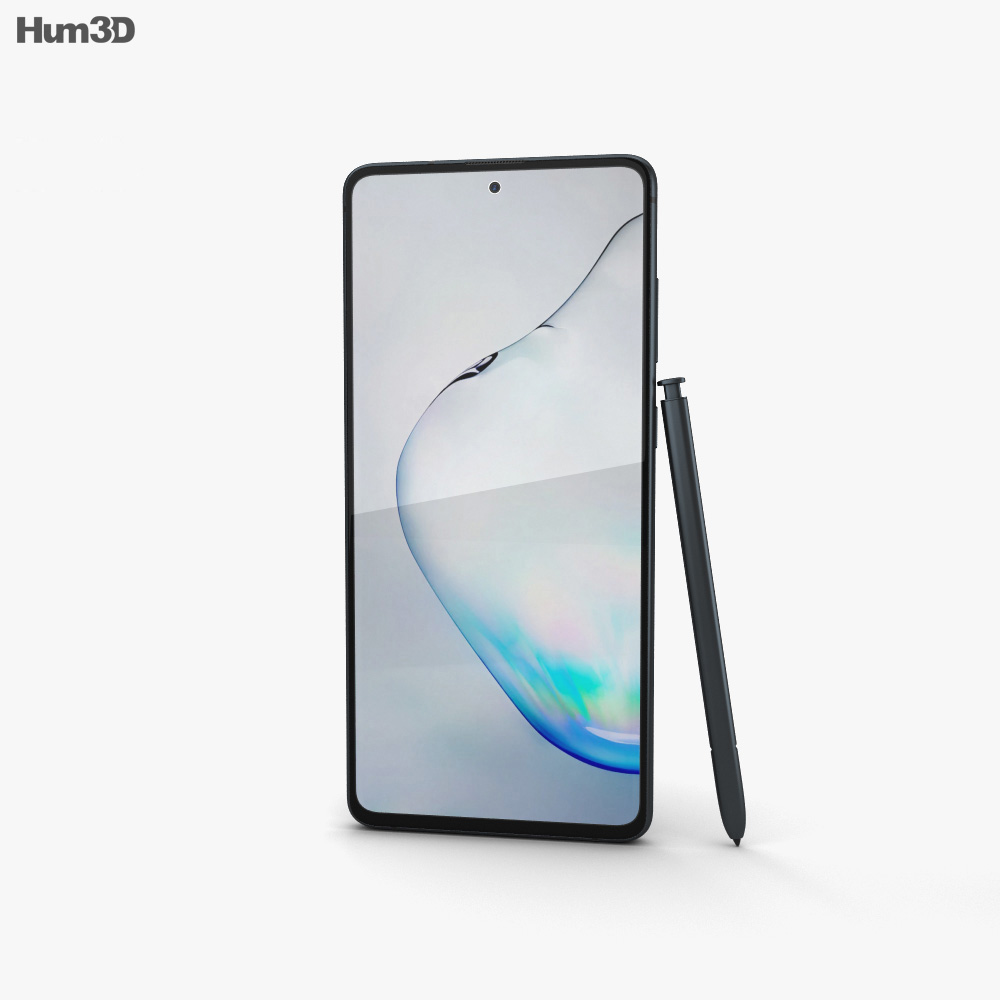 Samsung Galaxy Note10 Lite Aura Black 3d model