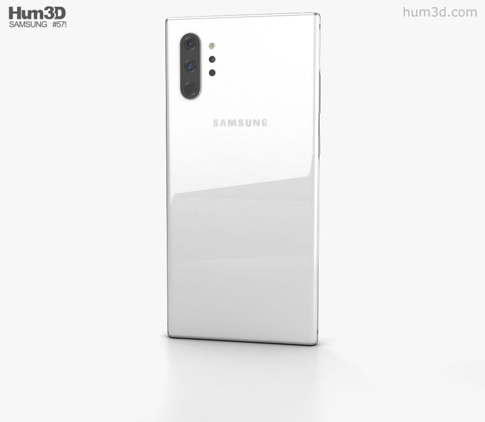 Samsung Galaxy Note10 Pro White 3d model