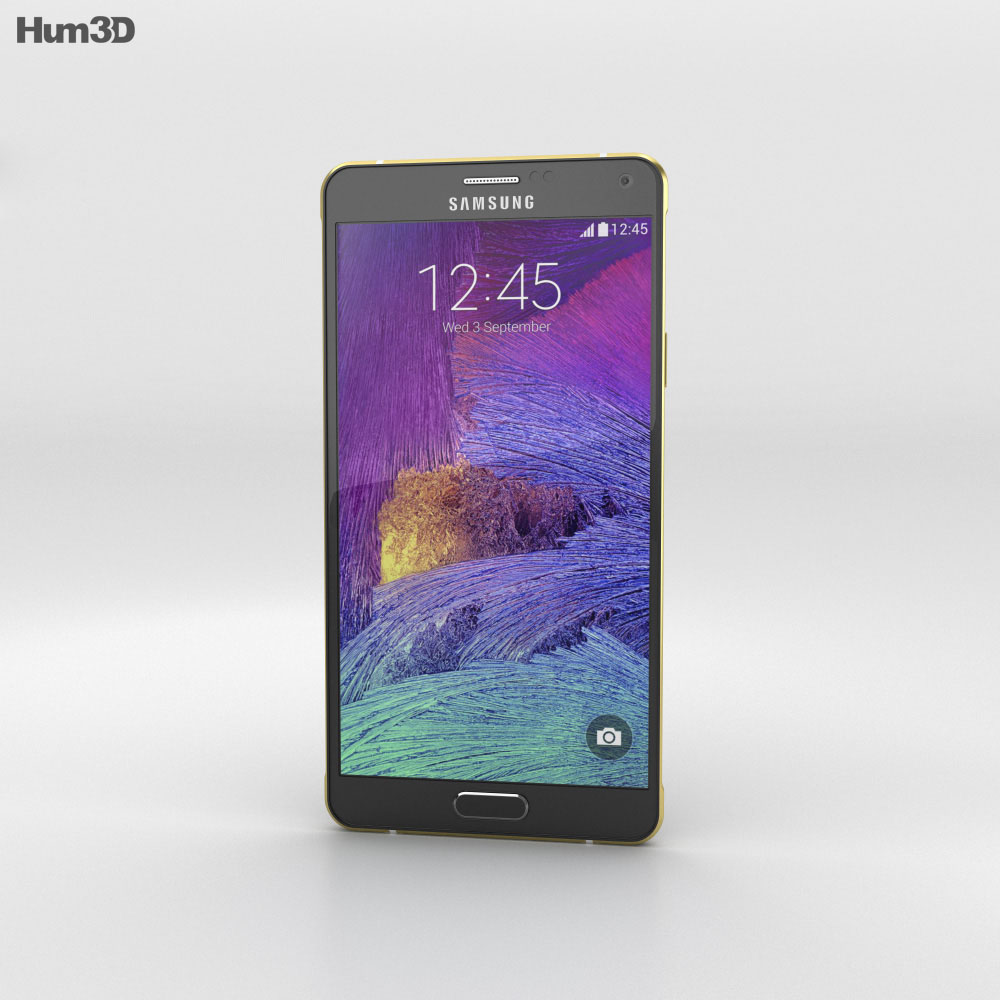 Samsung Galaxy Note 4 Gold Edition 3d model