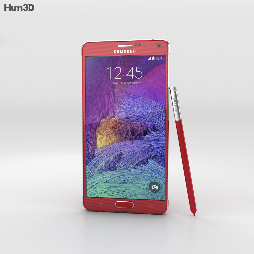 Samsung Galaxy Note 4 Velvet Red 3d model