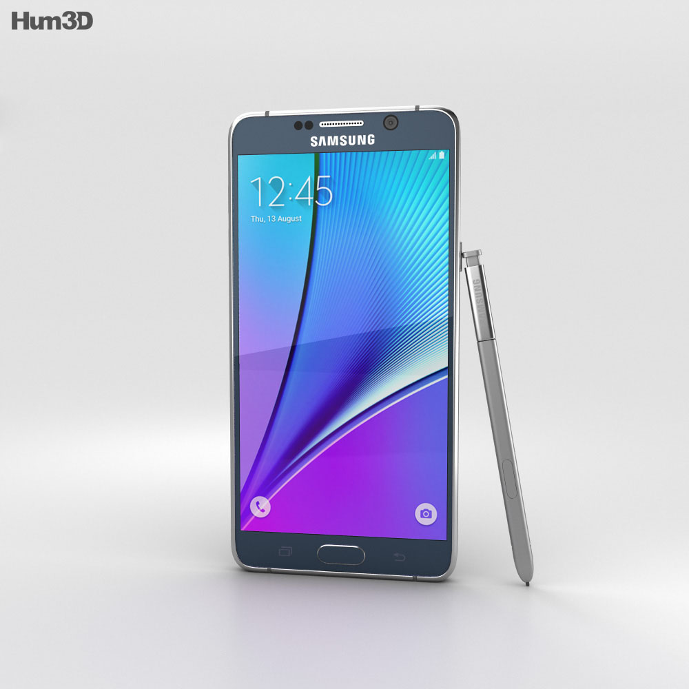 Samsung Galaxy Note 5 Black Sapphire 3d model