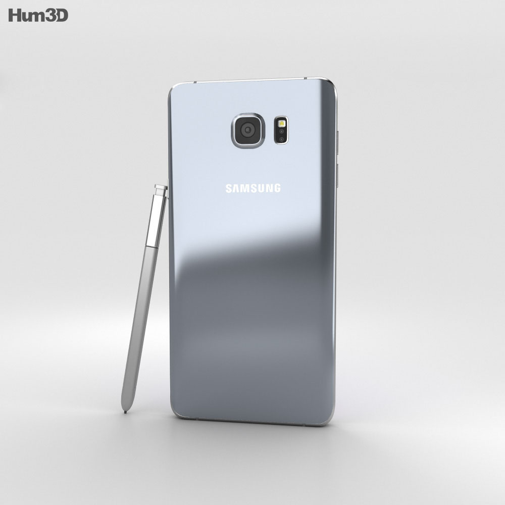 Samsung Galaxy Note 5 Silver Titan 3d model