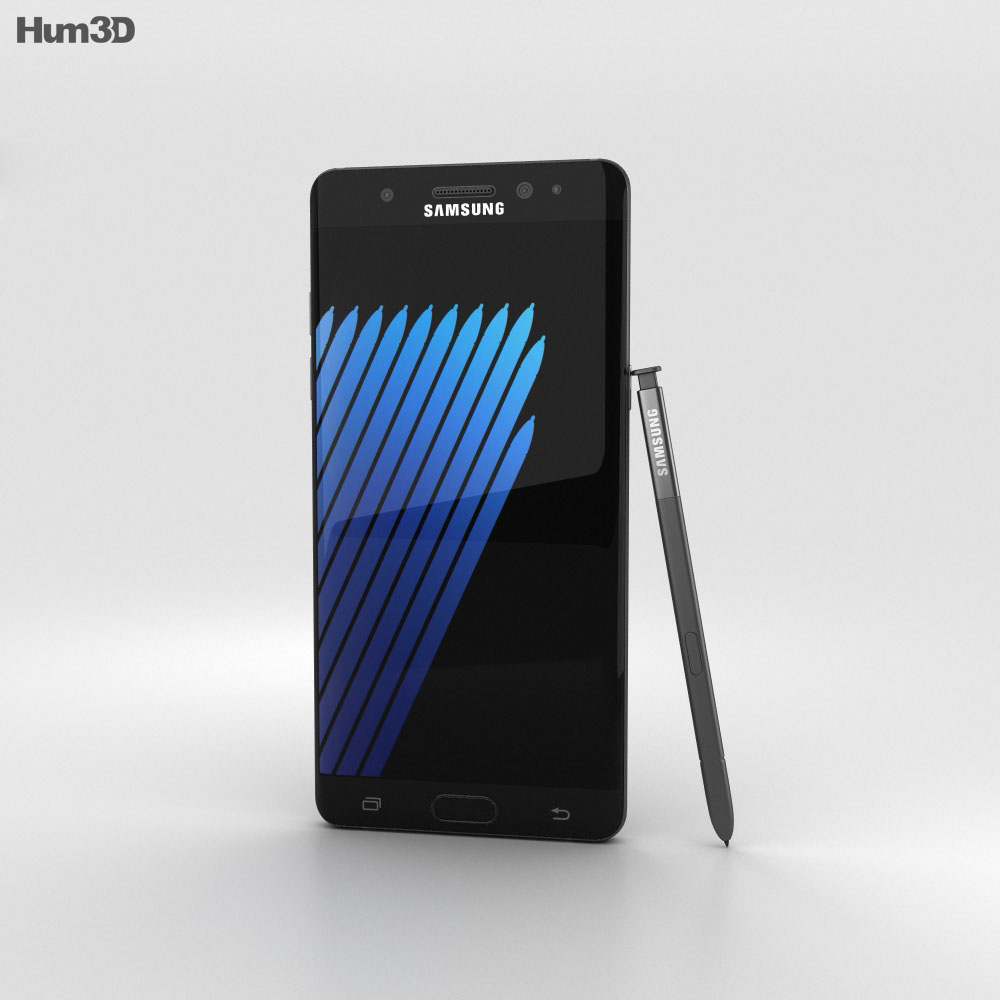 Samsung Galaxy Note 7 Black Onyx 3d model