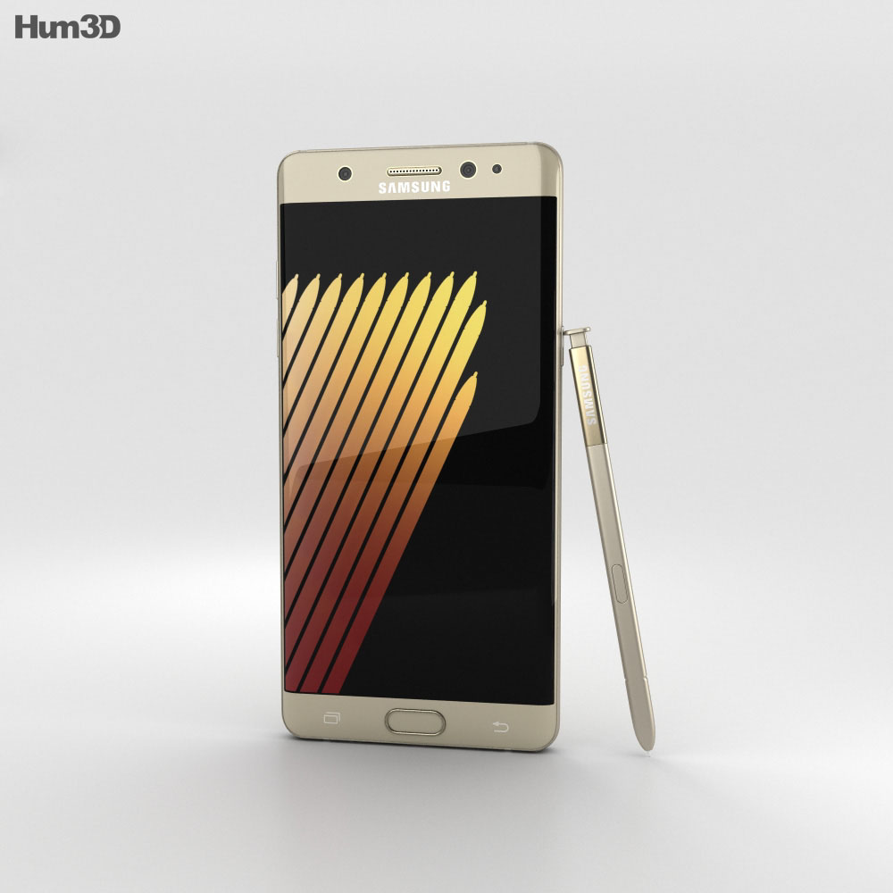 Samsung Galaxy Note 7 Gold Platinum 3d model