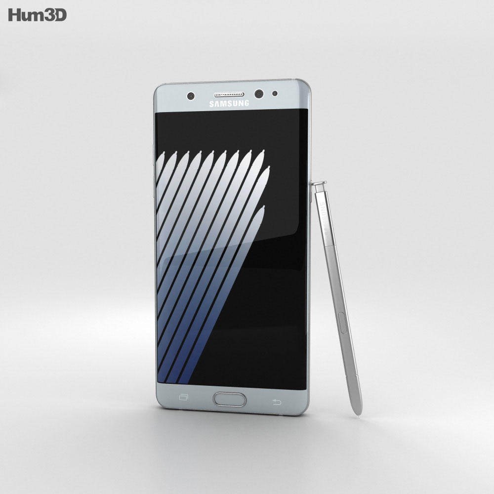 Samsung Galaxy Note 7 Silver Titanium 3d model