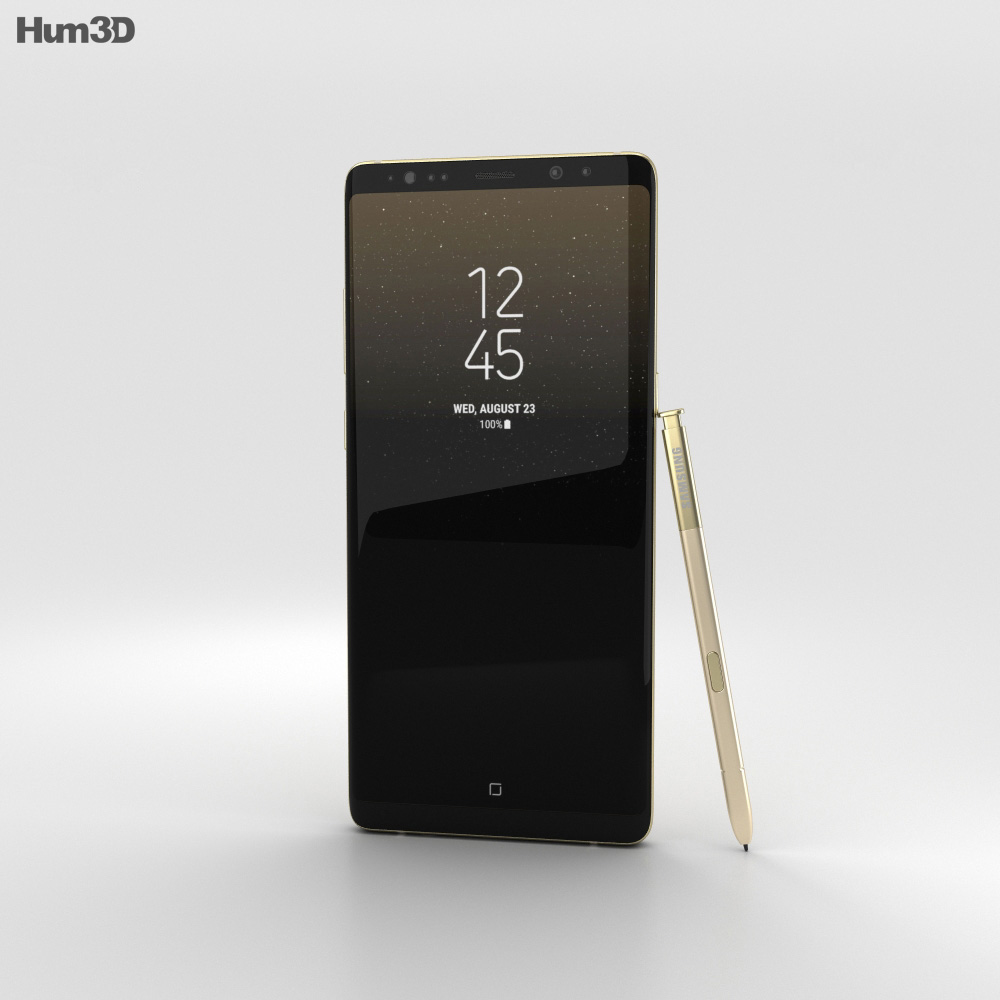 Samsung Galaxy Note 8 Maple Gold 3d model