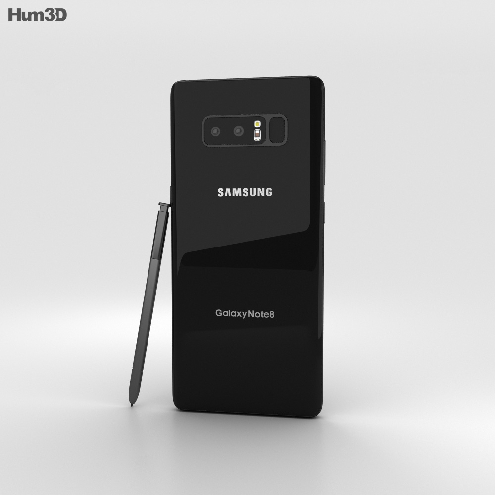 Samsung Galaxy Note 8 Midnight Black 3d model