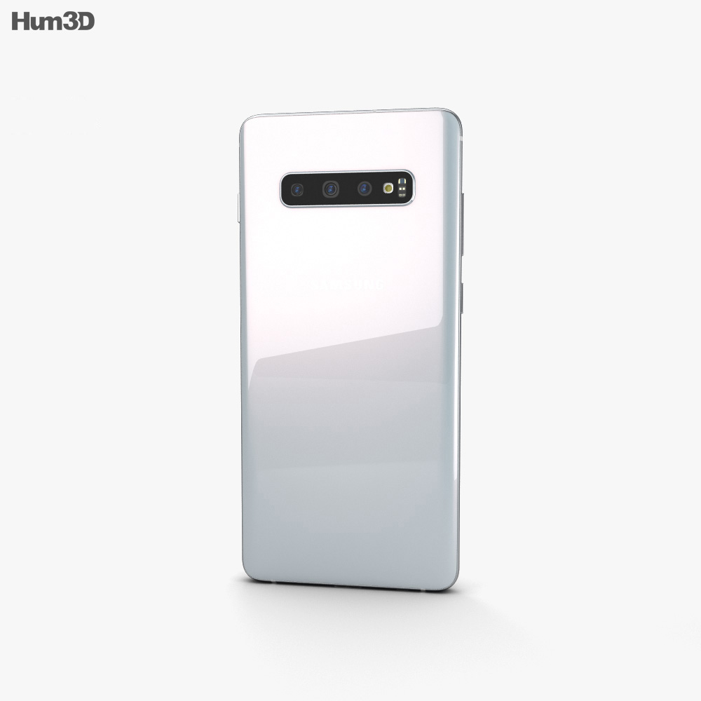 Samsung Galaxy S10 Plus Prism White 3d model
