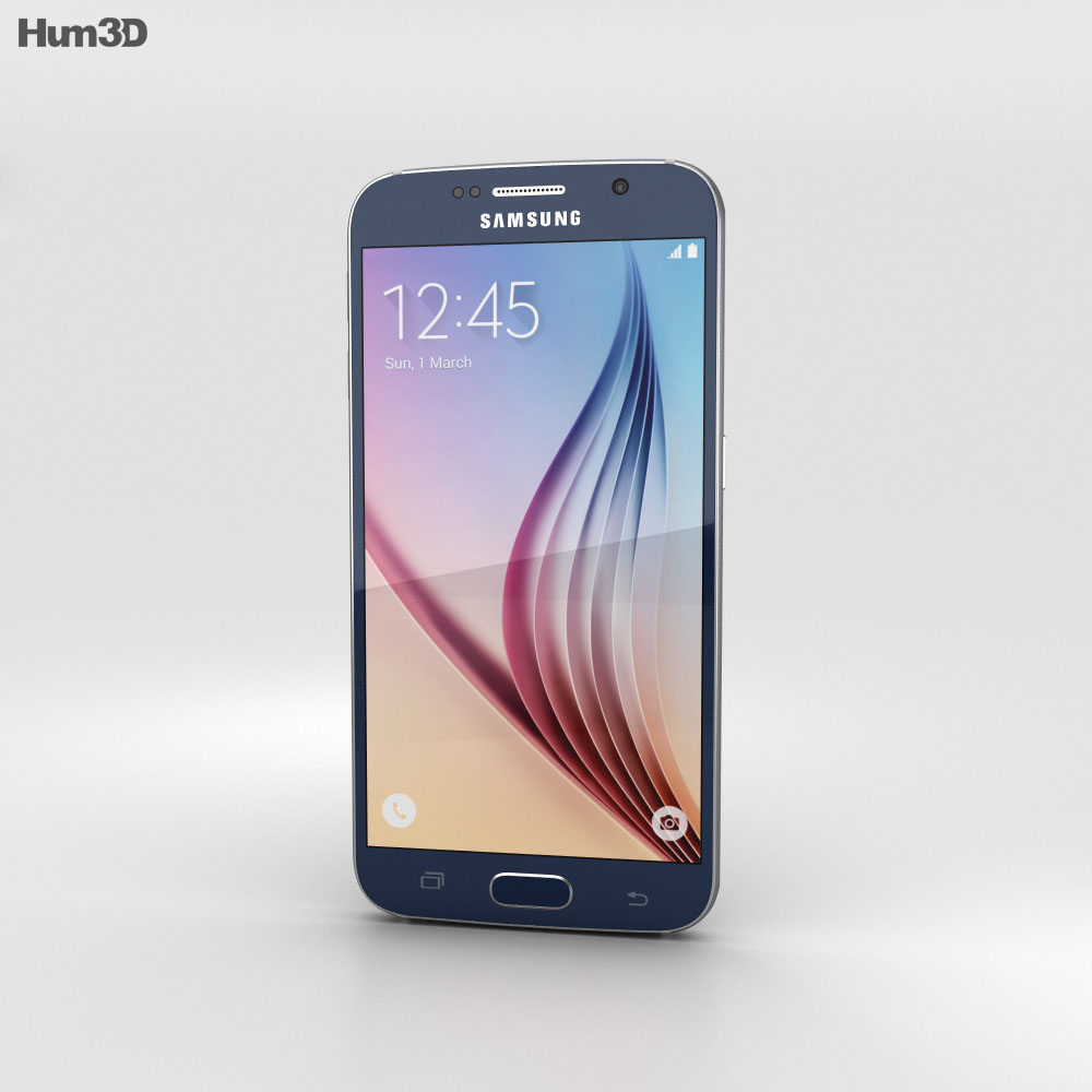 Samsung Galaxy S6 Black Sapphire 3d model