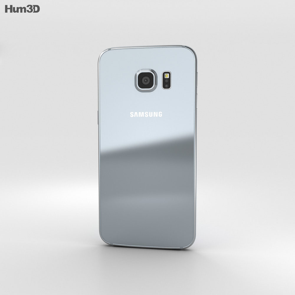 Samsung Galaxy S6 Edge Plus Silver Titan 3d model
