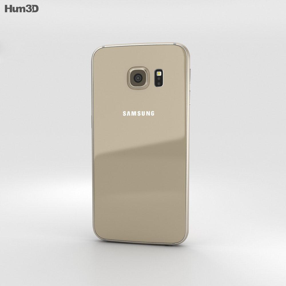 Samsunf Platinum: Samsung Galaxy S6 Gold Platinum 3D Model