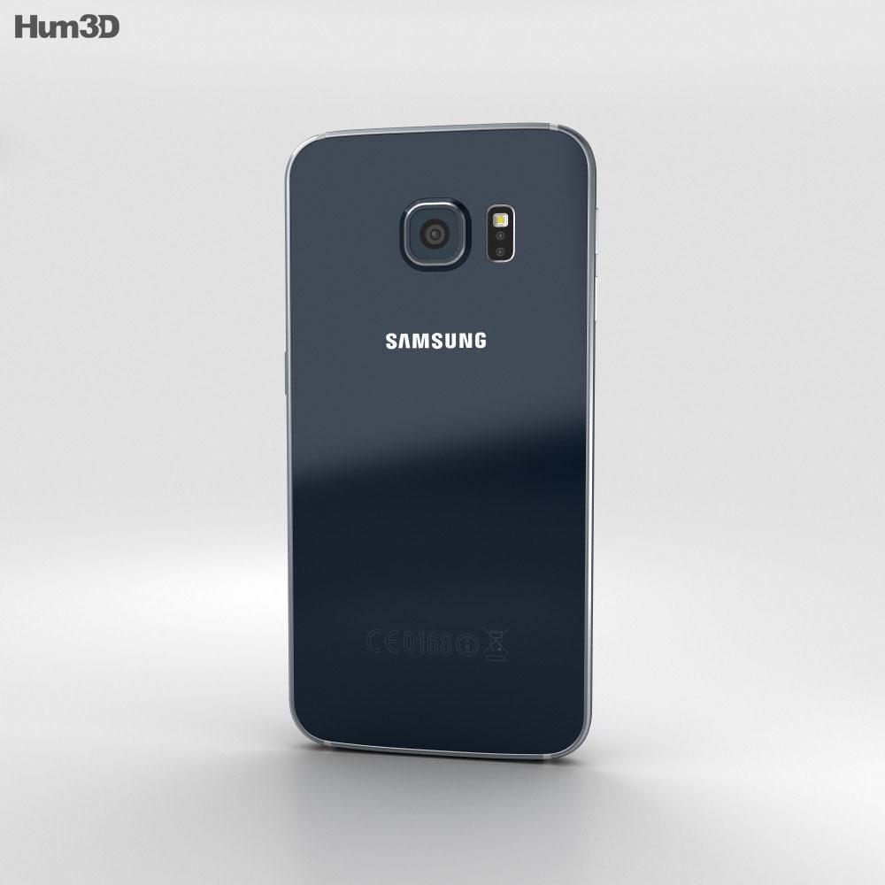 Samsung Galaxy S6 Edge Black Sapphire 3d model