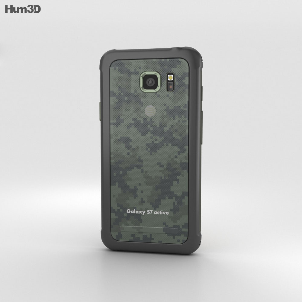 Samsung Galaxy S7 Active Camo Green 3d model