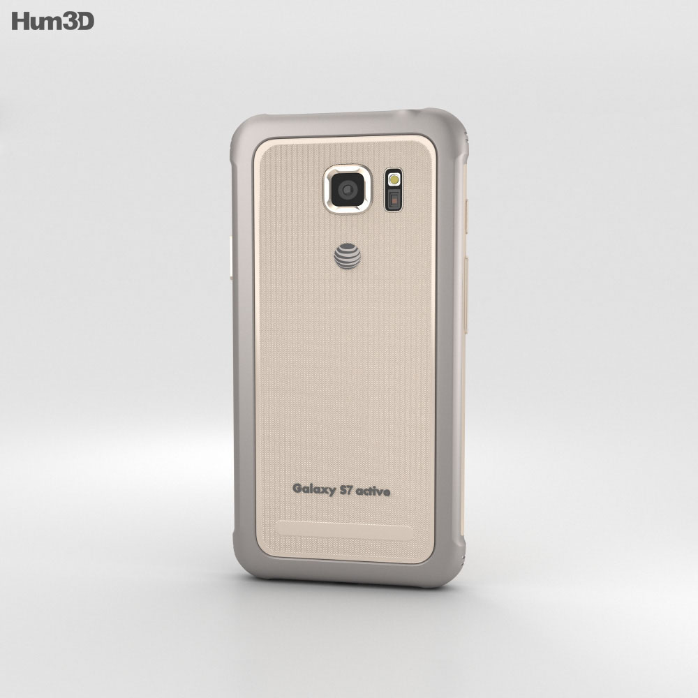 Samsung Galaxy S7 Active Sandy Gold 3d model