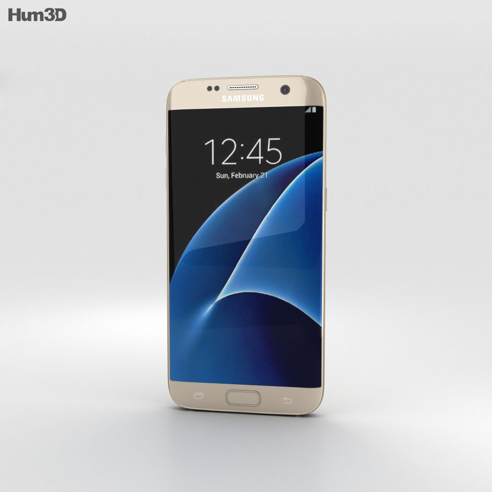 Samsung Galaxy S7 Edge Gold 3d model
