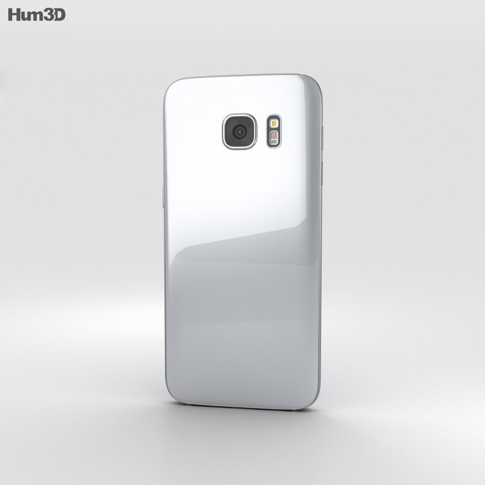 Samsung Galaxy S7 Edge Silver 3d model