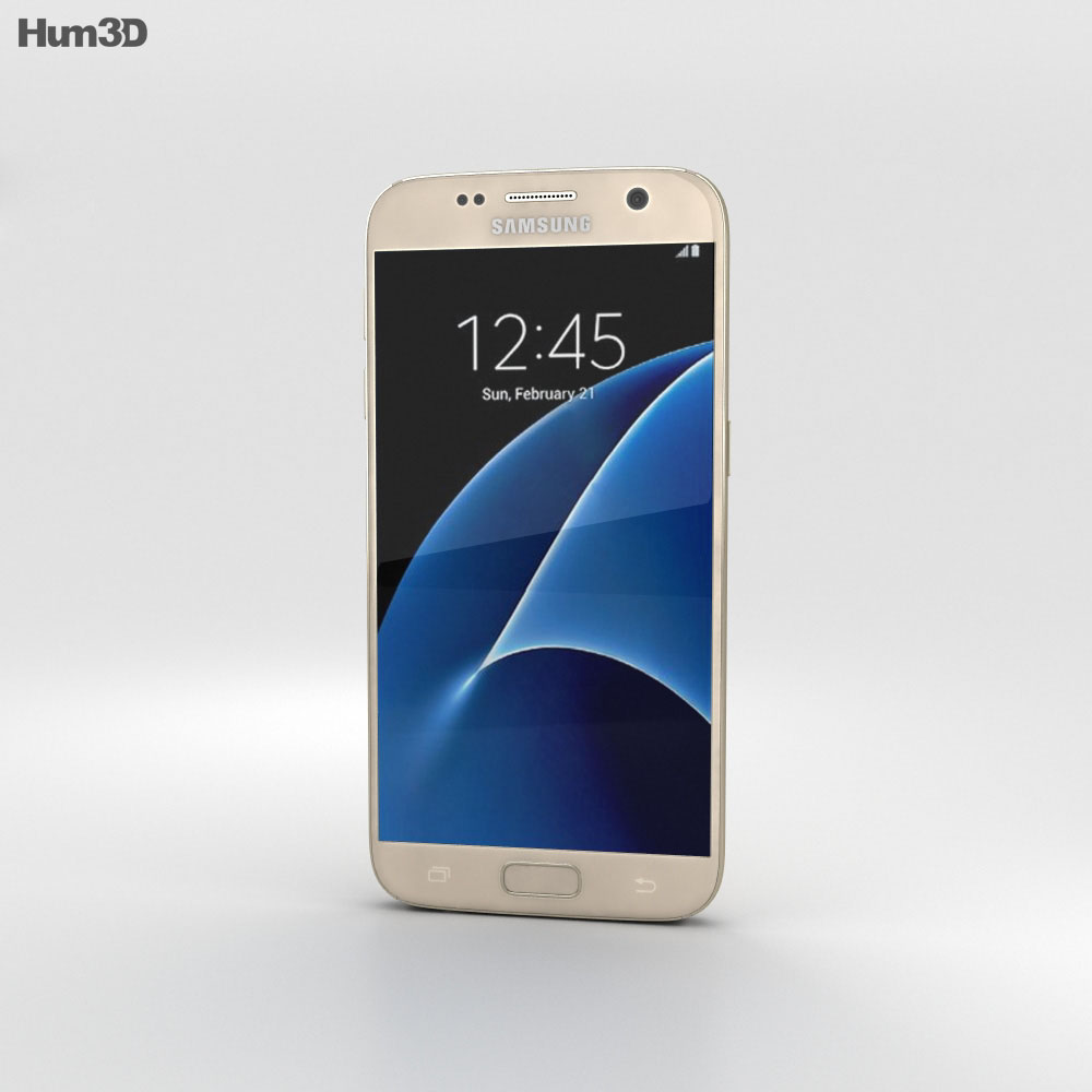 Samsung Galaxy S7 Gold 3d model