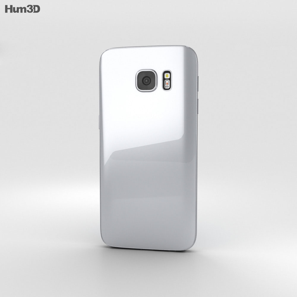 Samsung Galaxy S7 Silver 3d model
