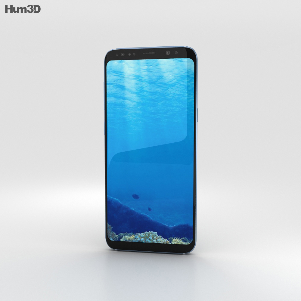 Samsung Galaxy S8 Coral Blue 3d model