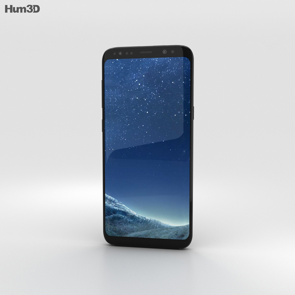 Samsung Galaxy S8 Black Sky 3d model