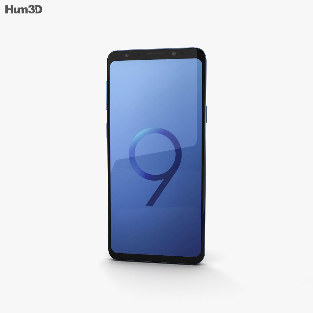 Samsung Galaxy S9 Plus Coral Blue 3d model