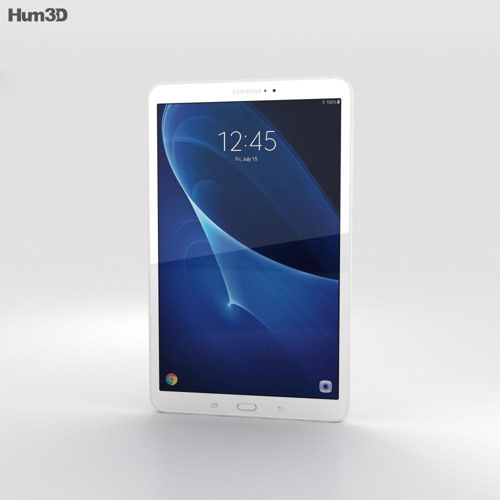 Samsung Galaxy Tab A 10.1 Pearl White 3d model