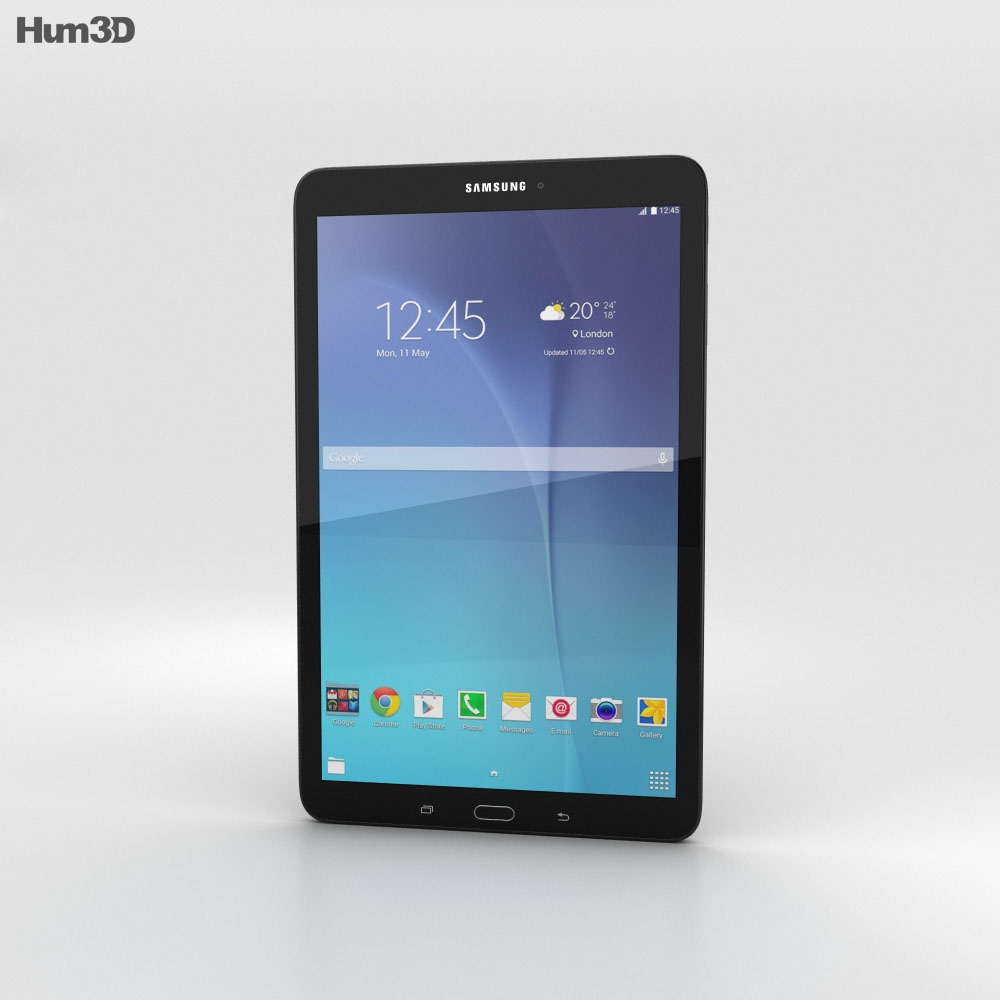 Samsung Galaxy Tab E 9.6 Black 3d model