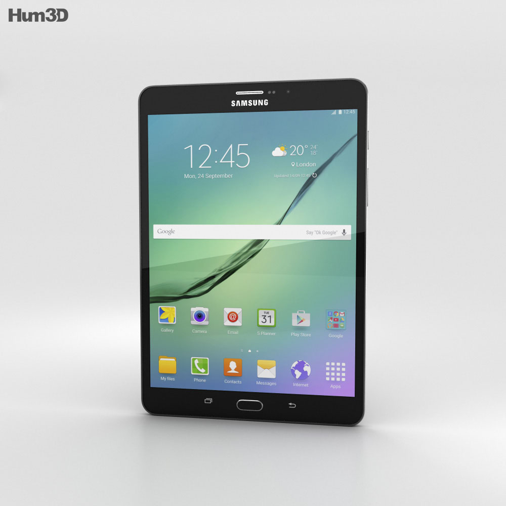 Samsung Galaxy Tab S2 8.0-inch LTE Black 3d model