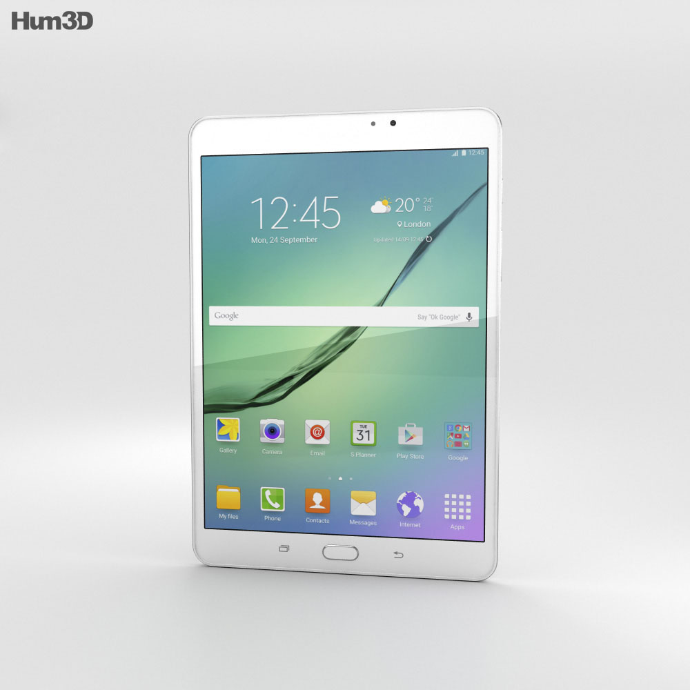 Samsung Galaxy Tab S2 8.0 Wi-Fi White 3d model