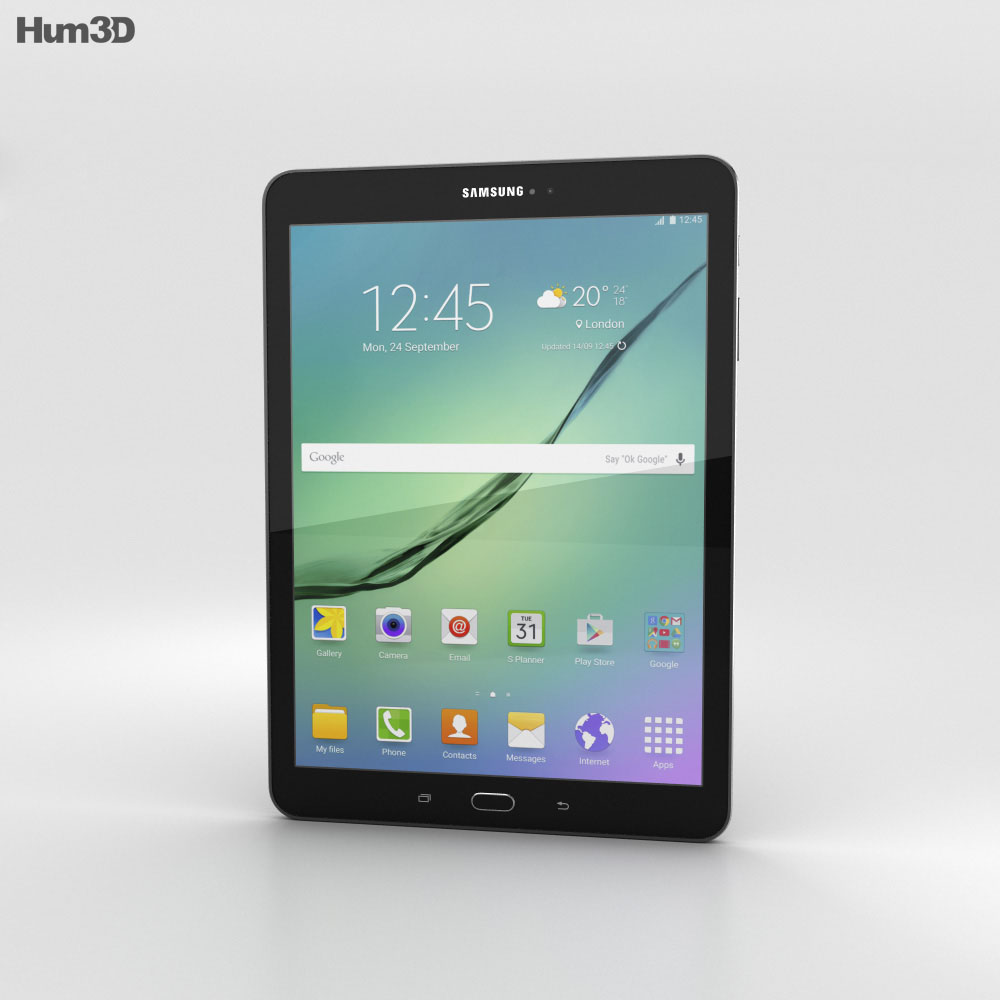 Samsung Galaxy Tab S2 9.7-inch Black 3d model