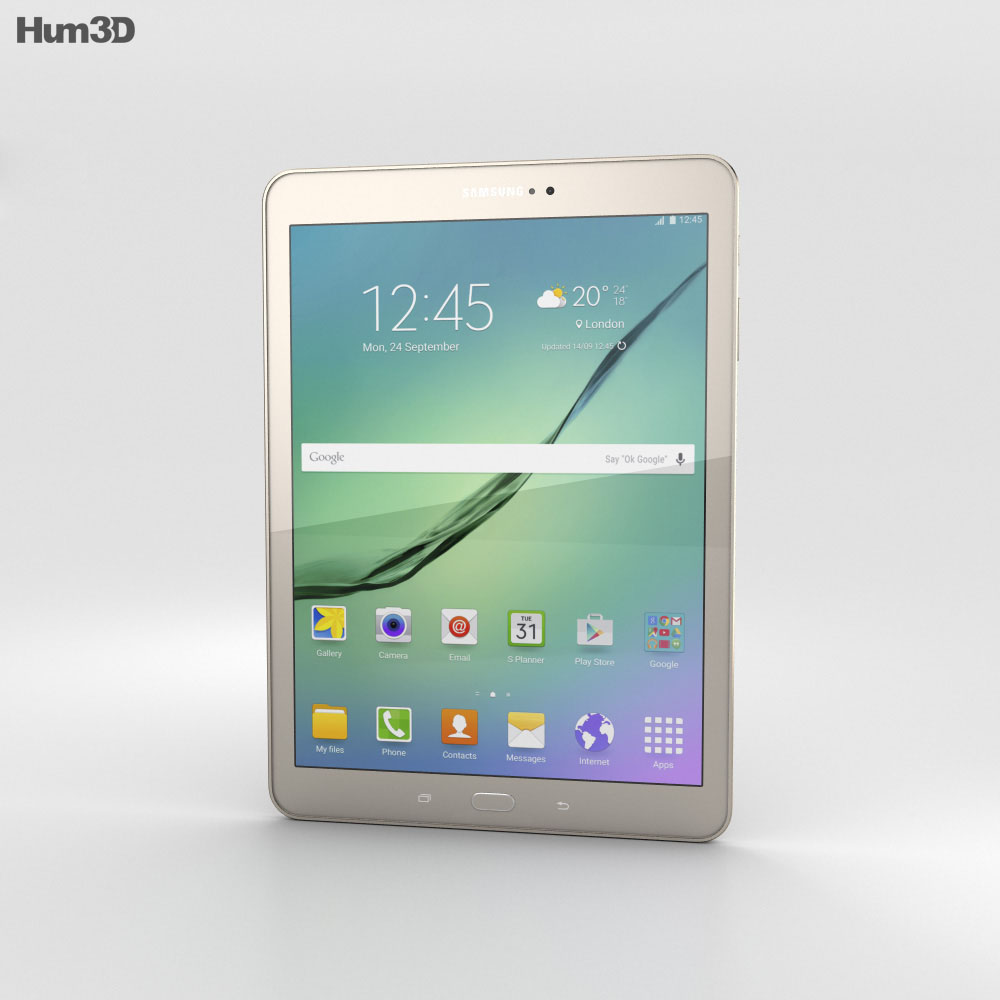 Samsung Galaxy Tab S2 9.7-inch Gold 3d model