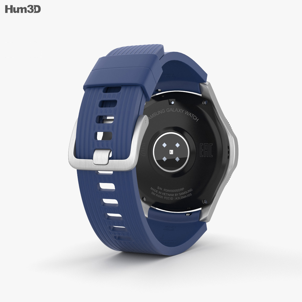 Samsung Galaxy Watch 46mm Deep Ocean Blue 3d model