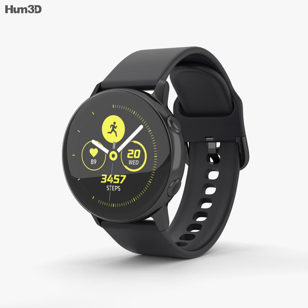 Samsung Galaxy Watch Active Black 3d model