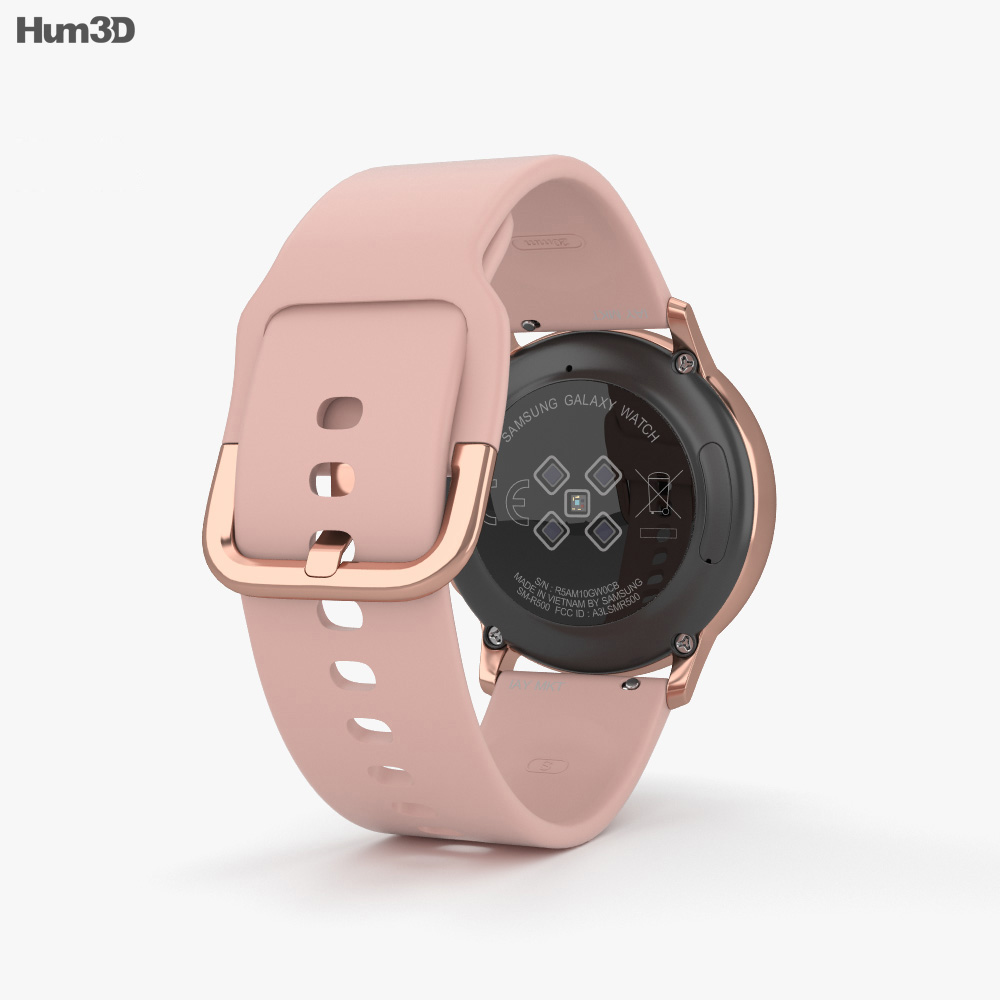 Samsung Galaxy Watch Active Rose Gold 3d model