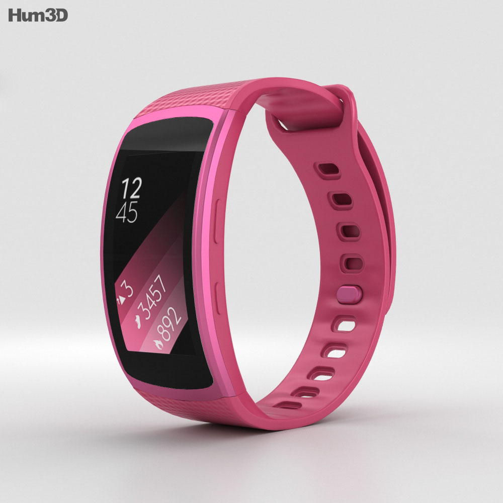 samsung gear fit 2 pink 3d model hum3d. Black Bedroom Furniture Sets. Home Design Ideas