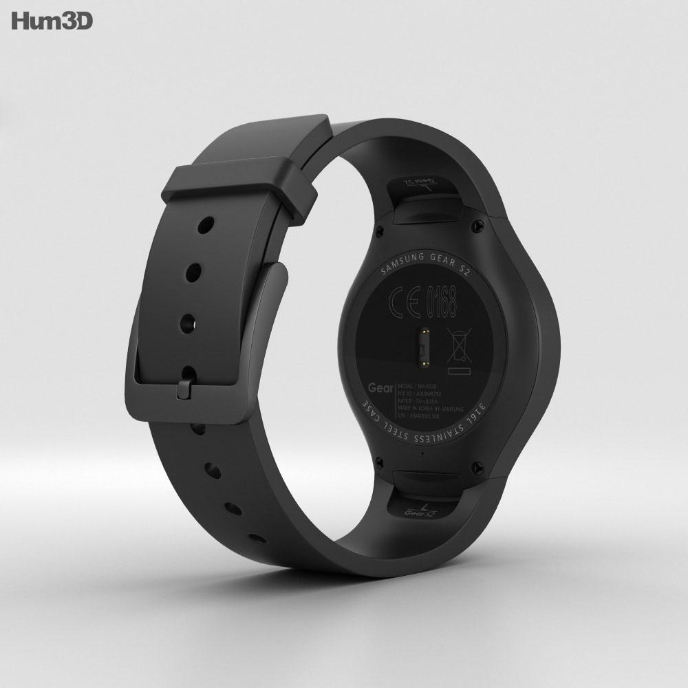 Samsung Gear S2 Black 3d model