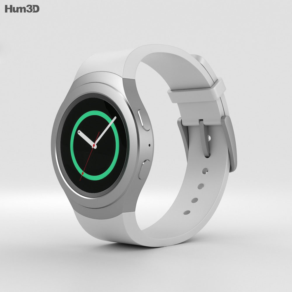 Samsung Gear S2 White 3d model