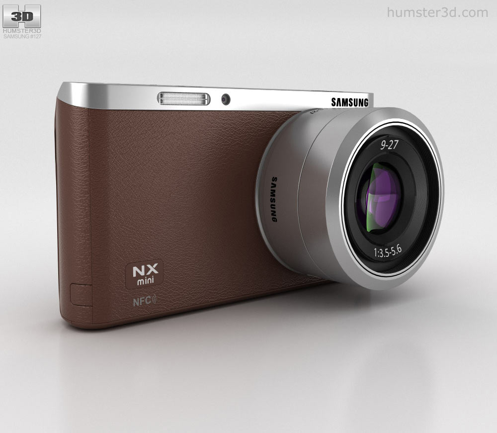 Samsung NX Mini Smart Camera Brown 3d model
