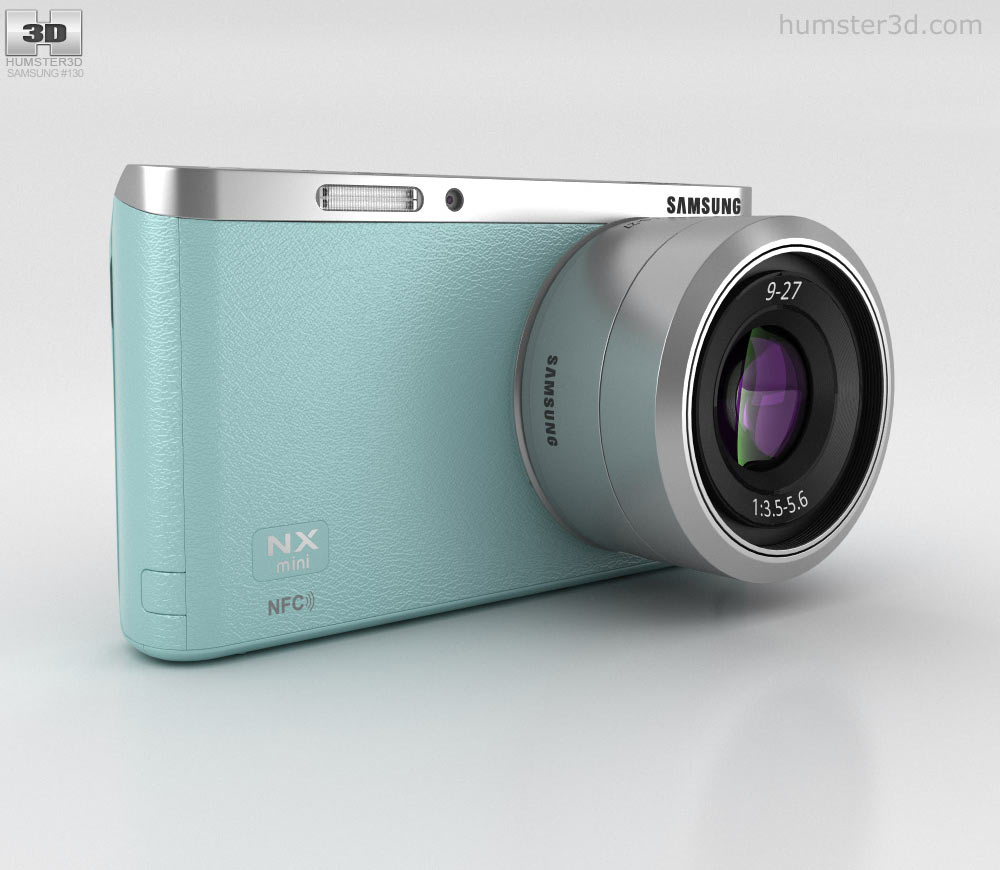 Samsung NX Mini Smart Camera Mint Green 3d model