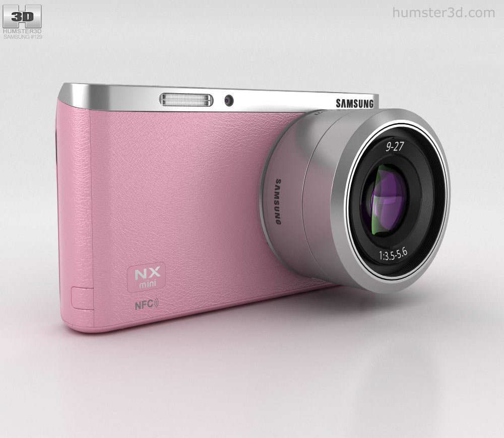 Samsung NX Mini Smart Camera Pink 3d model